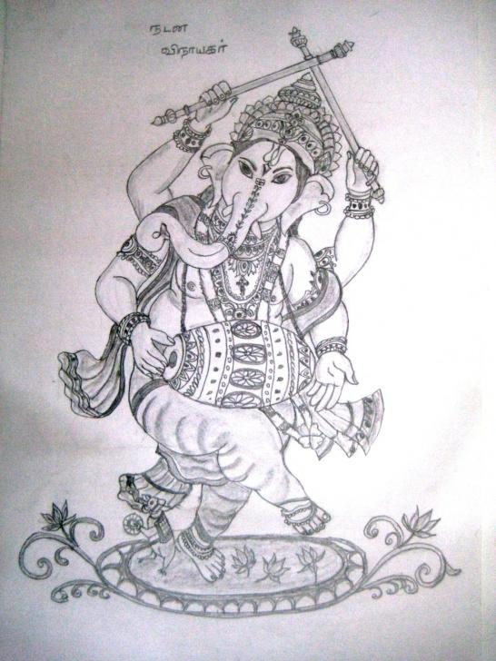 Gorgeous Vinayagar Pencil Drawing Techniques Varthini Blog: Varthini Arts - Lord Vinayagar Drawing Images
