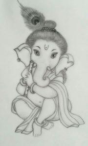 Gorgeous Vinayagar Pencil Drawing Tutorials Sri Ganesha Pencil Sketch.. | Sri Ganesh Art | Ganesha Sketch Image