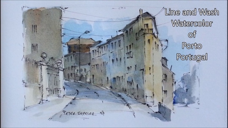 Gorgeous Watercolor Sketch Pencil Techniques for Beginners Pen And Wash Watercolor Demonstration Using A Pencil Sketch. By Peter  Sheeler Image