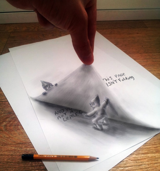 Incredible 3D Art On Paper With Pencil Simple 33 Of The Best 3D Pencil Drawings | Bored Panda Image