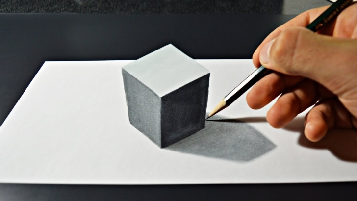 Incredible 3D Painting On Paper With Pencil Simple How To Draw 3D Art On Paper Images