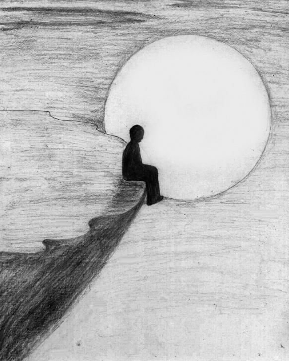Alone Pencil Sketch