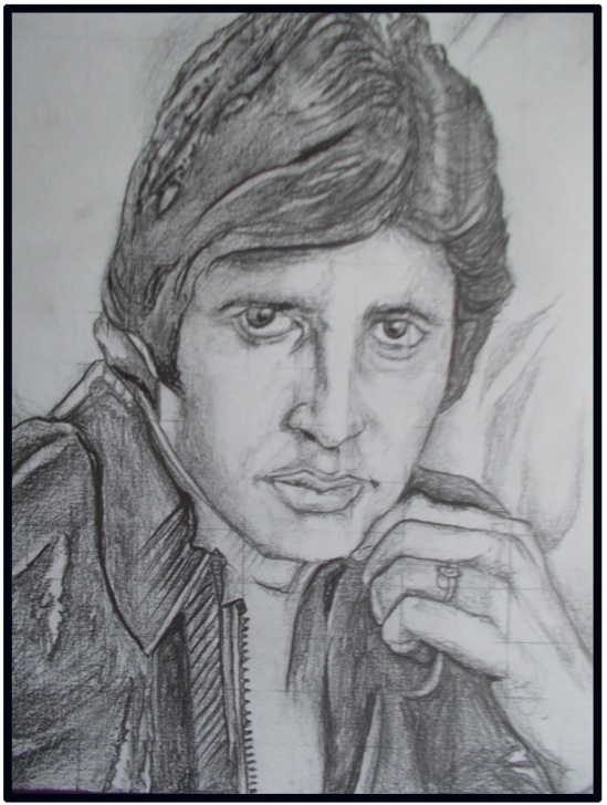 Incredible Amitabh Bachchan Pencil Sketch Courses Pencil Sketches | Face Scratches | Art Gallery | Art & Paintings Images