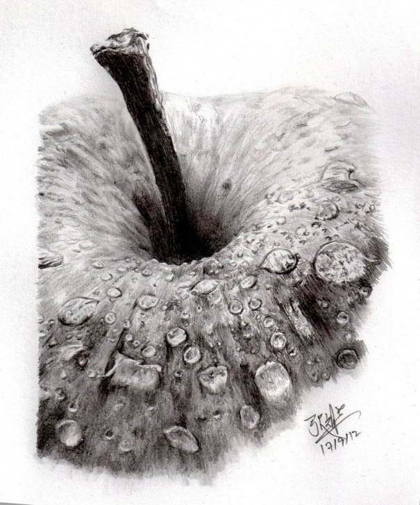Incredible Apple Pencil Shading Free Pencil Sketch Of An Apple By ~Chaseroflight On Deviantart | Drawing Photos