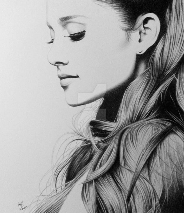 Ariana Grande Pencil Sketch