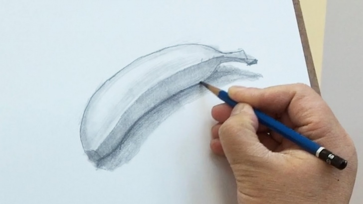 Incredible Banana Pencil Sketch Step by Step Still Life #22 - How To Draw A Banana With Pencil Pictures