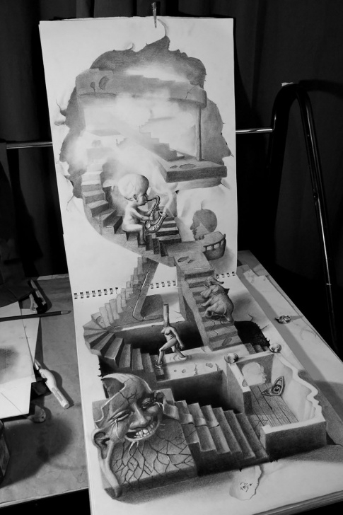 Incredible Best Pencil Sketches Of All Time for Beginners 33 Of The Best 3D Pencil Drawings   Bored Panda Pictures