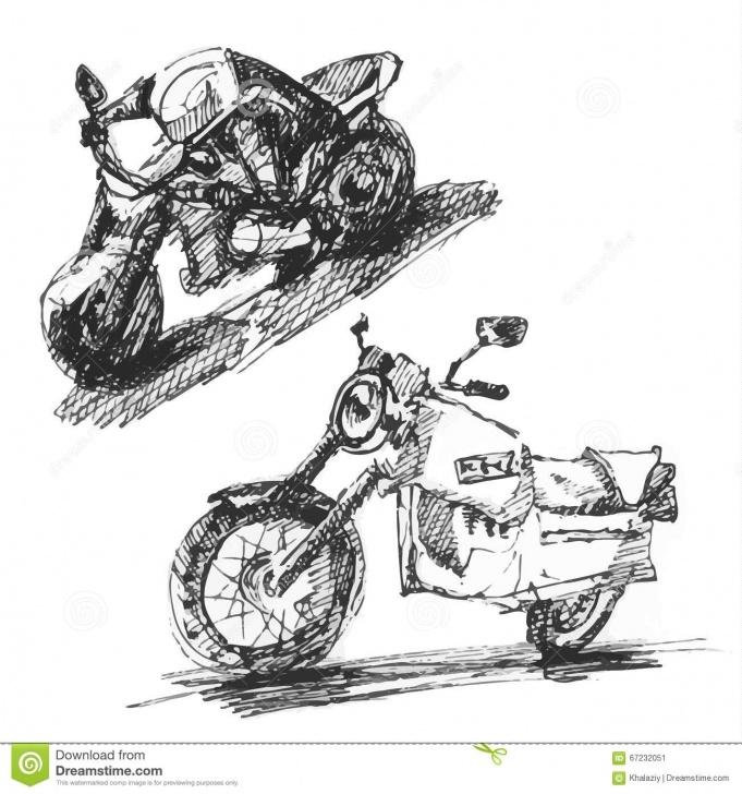 Incredible Bike Pencil Sketch Courses Bike Stock Vector. Illustration Of Bike, Pencil, Sketch - 67232051 Pics
