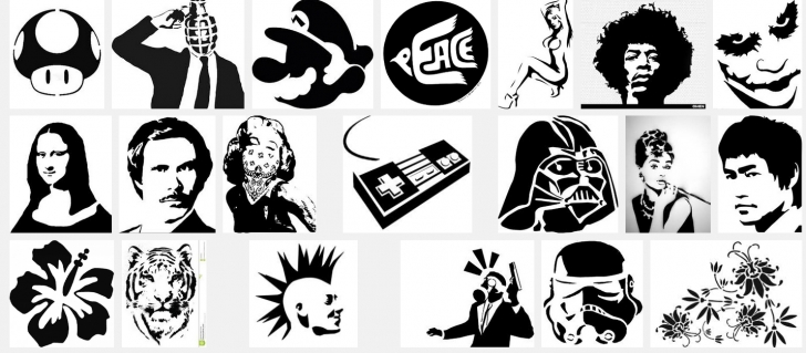 Incredible Black And White Stencil Art Step by Step Griptape Stencil Art | Aidan Lynds Photo