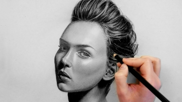 Incredible Black Pencil Drawing Techniques for Beginners Portrait Drawing With Graphite And Charcoal Pencil | Emmy Kalia Pic