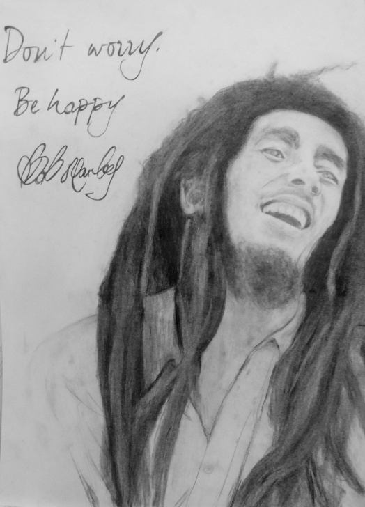 Incredible Bob Marley Pencil Drawing Simple Bob Marley Drawing By Pencil – Robert Nowicki Art Pics
