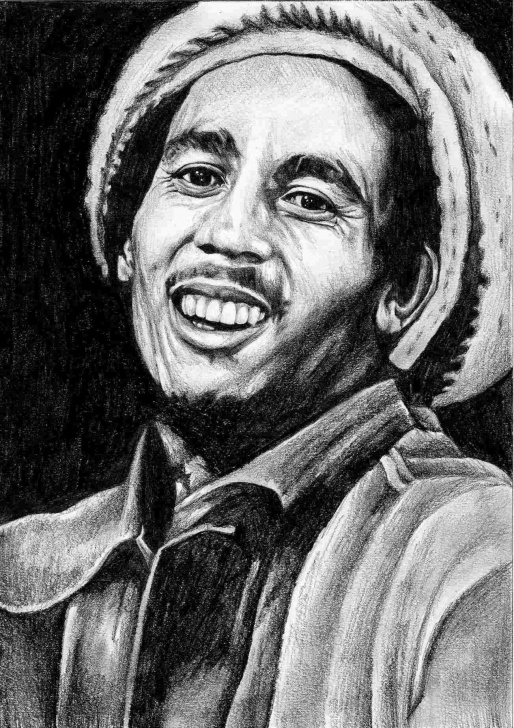 Incredible Bob Marley Pencil Drawing Tutorials Jammers Miaus Rhpinterestcom Drawing Art In Pinterest Pencil Bob Images