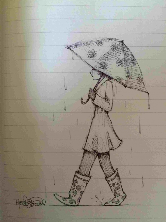 Incredible Boy And Girl Image Love In Rain Pencil Ideas Pencil Sketch Of A Girl With Umbrella Images