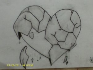 Incredible Broken Heart Pencil Sketch Easy Heart Drawings - Dr. Odd | Artwork Ideas In 2019 | Sad Drawings Picture