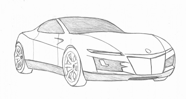 Incredible Car Pencil Art Easy Pencil Drawing Car And Easy Pencil Drawing Of Cars | Vehicles Picture