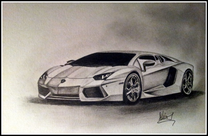 Incredible Car Pencil Sketch Drawing for Beginners Lamborghini Aventador Pencil Drawing | Drawings In 2019 | Pencil Photos