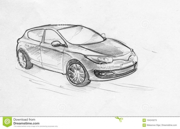 Incredible Car Pencil Sketch Drawing Techniques for Beginners Hand Drawn Pencil Sketch Of A Car Stock Illustration - Illustration Pics