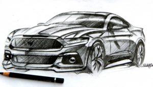 Incredible Car Pencil Sketch Ideas Ford Mustang Pencil Sketch | Sketches | Car Design Sketch, Car Photos