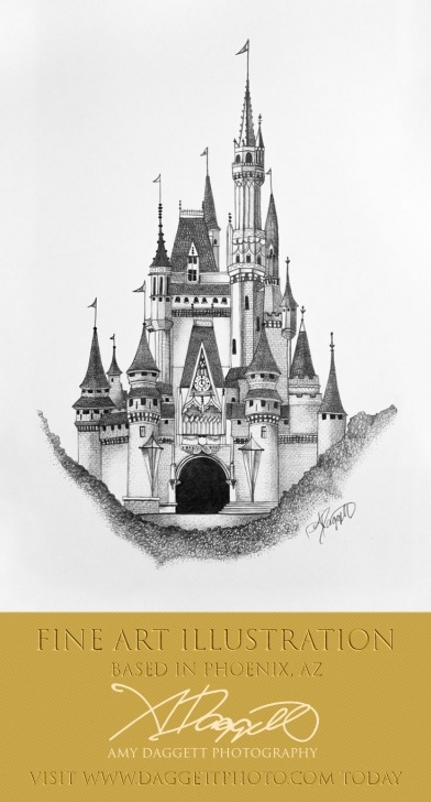 Incredible Castle Pencil Drawing Techniques Fantasy Castle, Old English Castle Drawing, Disney Castle Pictures