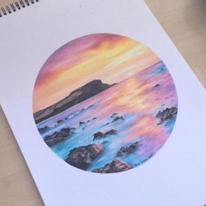 Incredible Cool Colored Pencil Drawings Tutorials Dreamy Sunset Ema Sivac Colored Pencils 2016 …   Colored Pencil In 2019… Pics