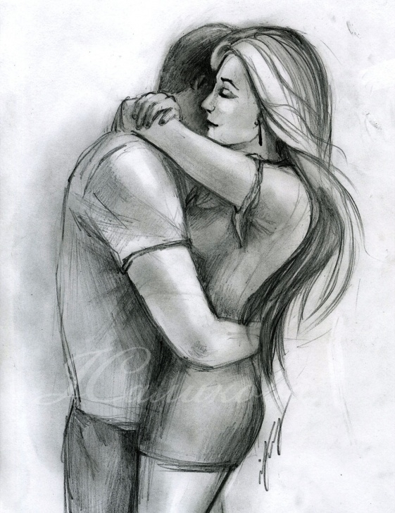 Incredible Couple Hug Sketch Easy Hug Paintings Search Result At Paintingvalley Images