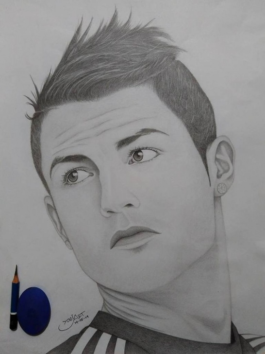 Incredible Cr7 Pencil Drawing Techniques Cristiano Ronaldo Pics