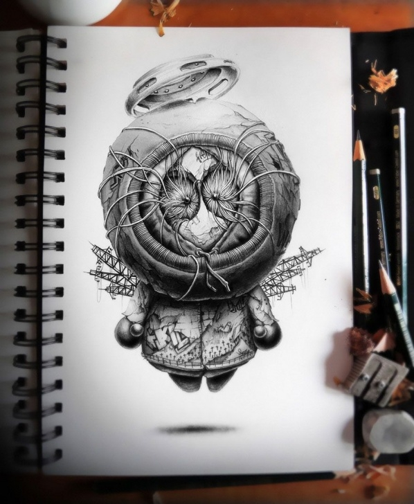 Incredible Creepy Pencil Drawings Courses Distroy: Creepy Pencil Drawings Of Famous Cartoon Characters | Art Pic