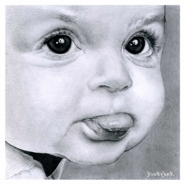 Incredible Cute Baby Pencil Sketch for Beginners Baby Paintings Search Result At Paintingvalley Pic