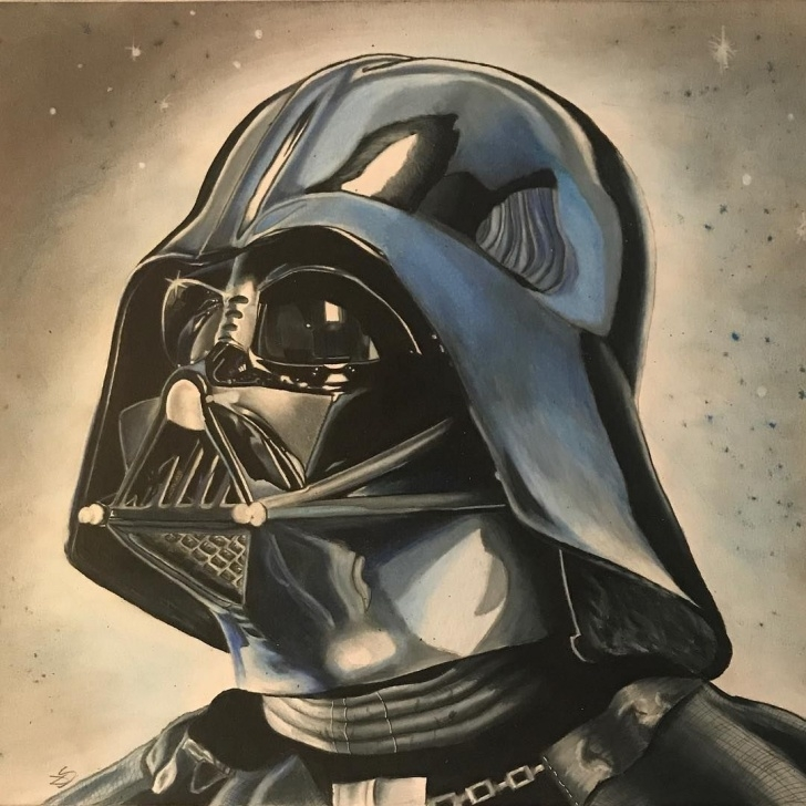 Incredible Darth Vader Pencil Drawing Techniques for Beginners Finished Darth Vader Drawing In Colored Pencil. #drawing #darthvader Photos