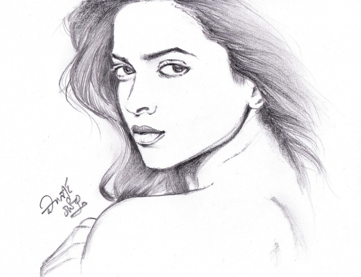 Incredible Deepika Padukone Pencil Sketch Ideas I Love Movies: Deepika Padukone - Pencil Sketch Images
