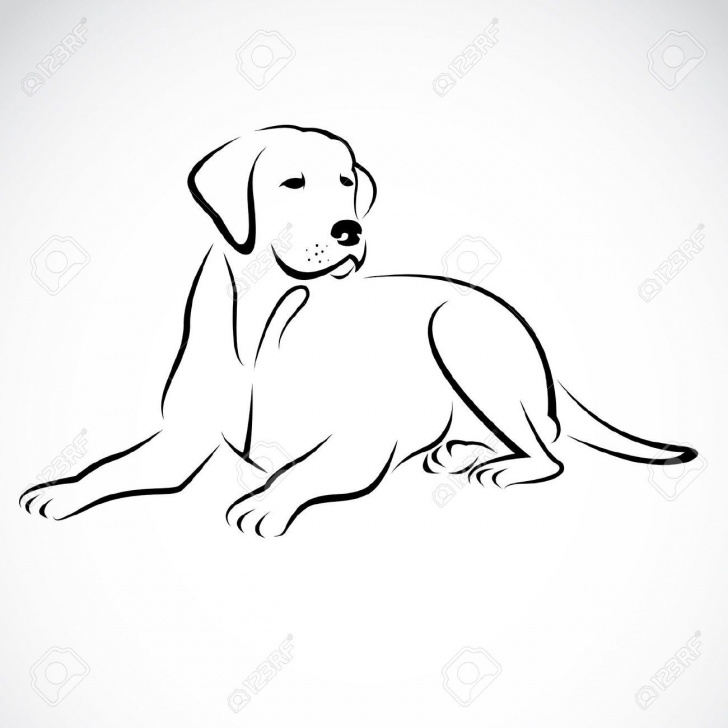 Incredible Dog Simple Pencil Drawing Ideas Stock Vector | Tats | Dog Silhouette, Drawings, Animal Drawings Images