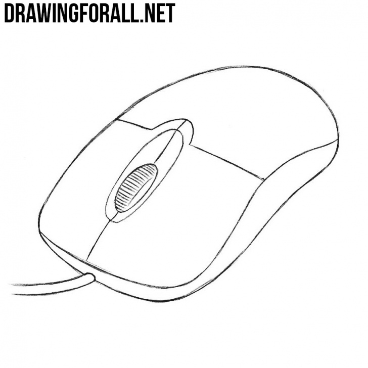 Incredible Draw A Computer Mouse Easy Simple How To Draw A Computer Mouse | Drawingforall Pictures