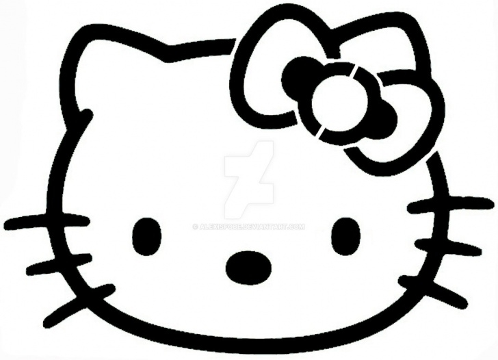 Incredible Easy Stencil Art Easy Easy Hello Kitty Stencil By Alexisfobe On Deviantart Pictures