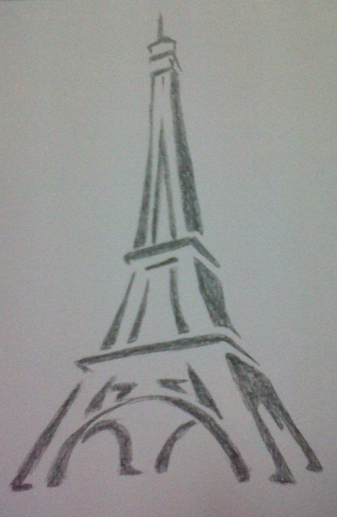 Incredible Eiffel Tower Pencil Drawing Free Drawings Of Towers | Eiffel Tower Drawing By ~Mido0Oafellay On Pic
