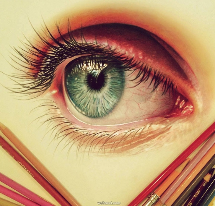 Incredible Eye Color Pencil Drawing Courses 50 Beautiful Color Pencil Drawings From Top Artists Around The World Pics