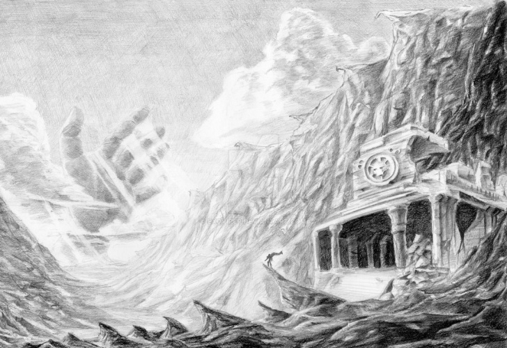 Incredible Fantasy Pencil Drawings for Beginners Fantasy Landscape Pencil Drawings And Fantasy Landscape Image