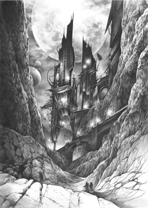 Incredible Fantasy Pencil Drawings Tutorials Original Fantasy Illustration By Katarzyna Kmiecik / Original Pencil Picture