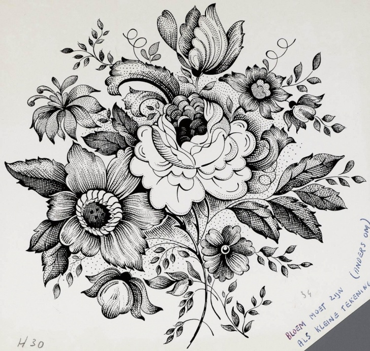 Incredible Floral Pencil Drawings Tutorials Bouquet Of Flowers Sketch At Paintingvalley | Explore Collection Pictures