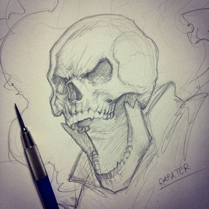 Incredible Ghost Rider Pencil Sketch Tutorial Ghost Rider Esboço Por Rafater | Drawings In 2019 | Ghost Rider Pictures