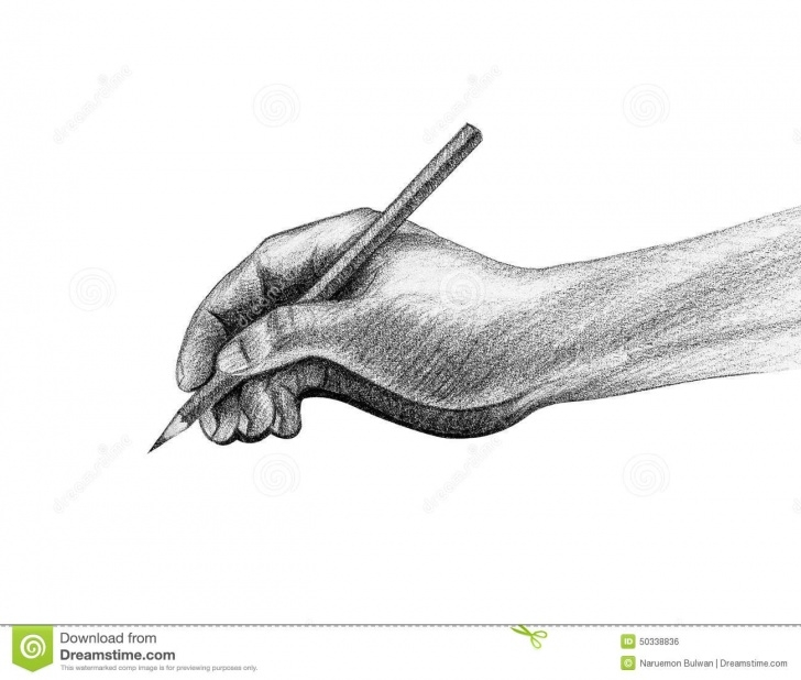 Incredible Hand With Pencil Drawing for Beginners Hand With Pencil Write Drawing Stock Illustration - Illustration Of Image