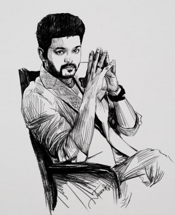 "Incredible Hard Pencil Sketch Courses Jeeva Artist On Twitter: ""today's Pencil Sketch . Our Thalapathy Images"