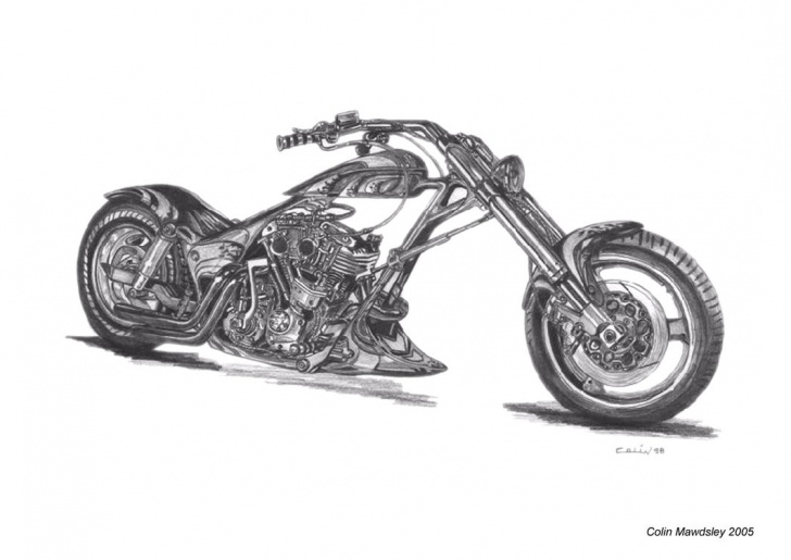 Harley Davidson Pencil Drawings