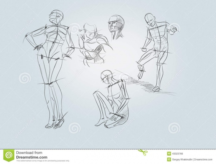 Incredible Human Sketches With Pencil Simple Pencil Sketches Stock Photo. Image Of Drawing, Dummy - 43323766 Pictures