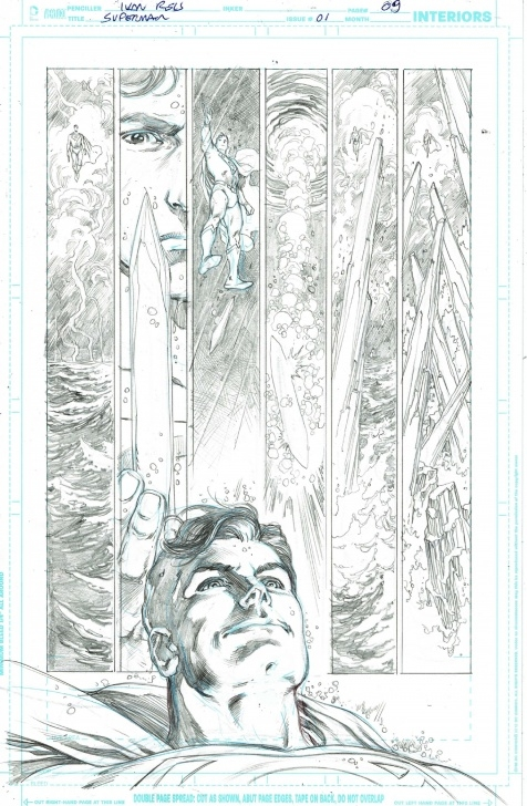 Incredible Ivan Reis Pencils Easy Superman (2018) 1 Page 09 - Ivan Reis - Pencils Only, In Chiaroscuro Picture