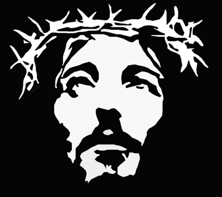 Incredible Jesus Christ Stencil Art Courses Plastic Jesus | Draw Projects | Jesus Art, Plastic Jesus, Silhouette Art Image