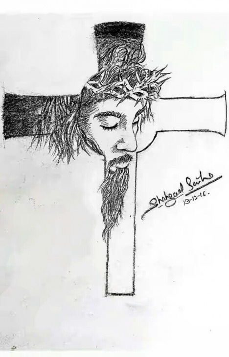 Incredible Jesus Pencil Sketch Step by Step Sketch Jesus Cross | Shahzad Saifi Art In 2019 | Jesus Drawings Image