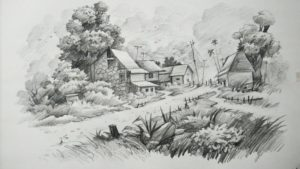 Incredible Landscape Pencil Art Free How To Draw A Landscape With Pencil Art Photo