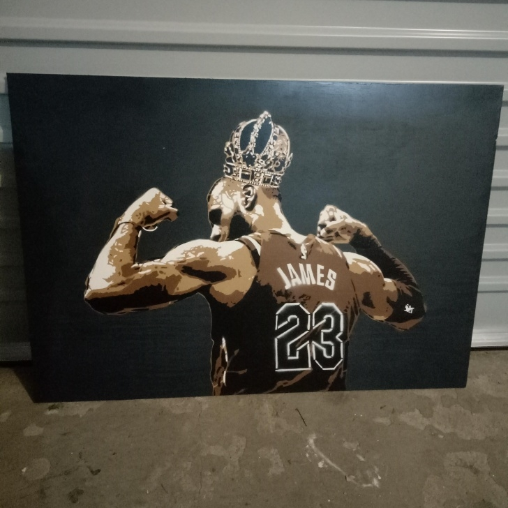 Incredible Lebron James Stencil Art Tutorials Lebron James King Stencil : Stencils Images