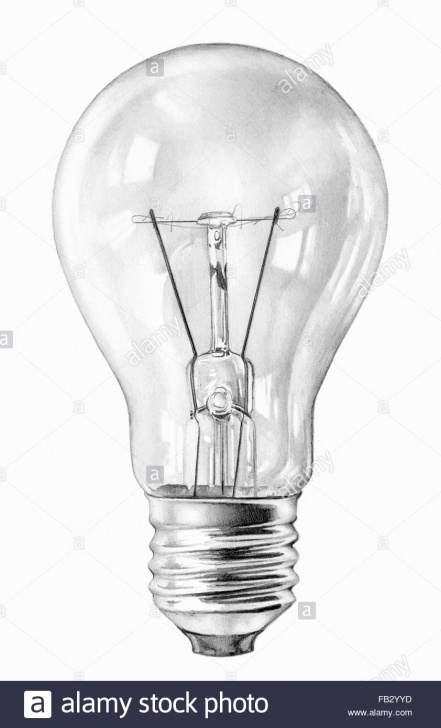 Incredible Light Bulb Pencil Drawing Lessons Close Up Pencil Drawing Of Filament Light Bulb Stock Photo: 92878897 Pic
