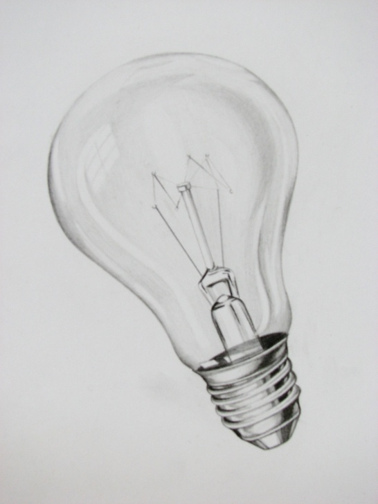 Incredible Light Bulb Pencil Drawing Lessons Light Bulb   Light Bulb Drawing   Pencil Drawings, Light Bulb Pic